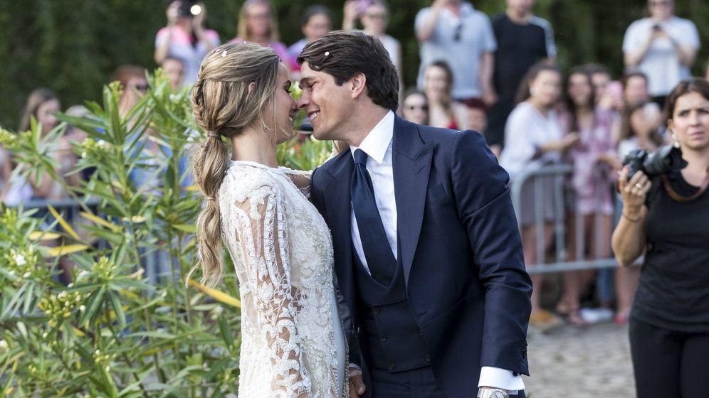 Foto: María Pombo y Pablo Castellano después de la ceremonia. (Cordon Press)