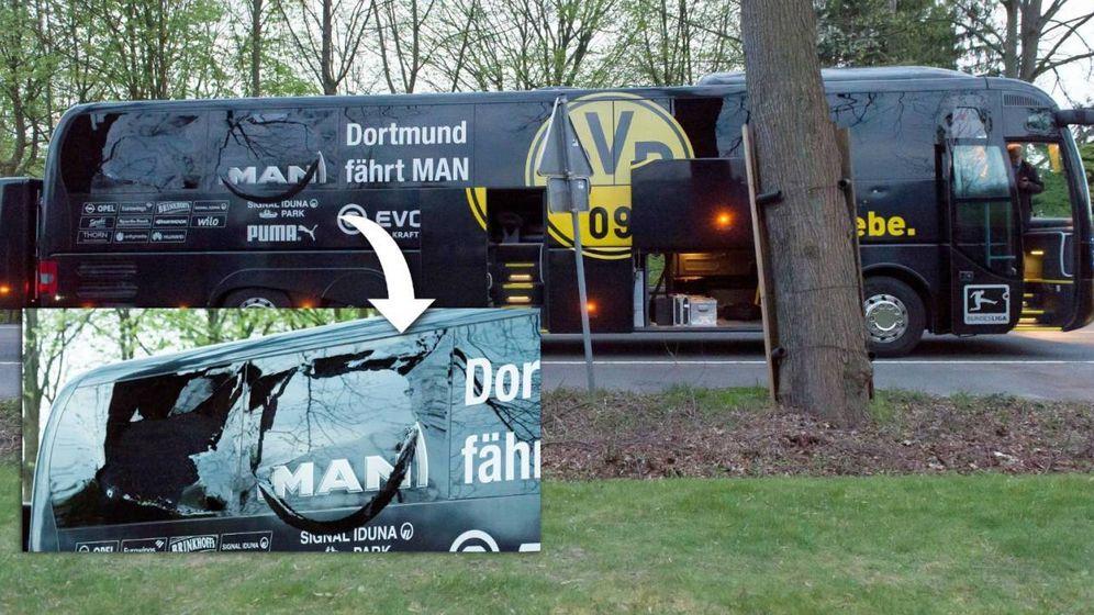 Foto: Así quedó el autobús de Borussia Dortmund tras el ataque con explosivos