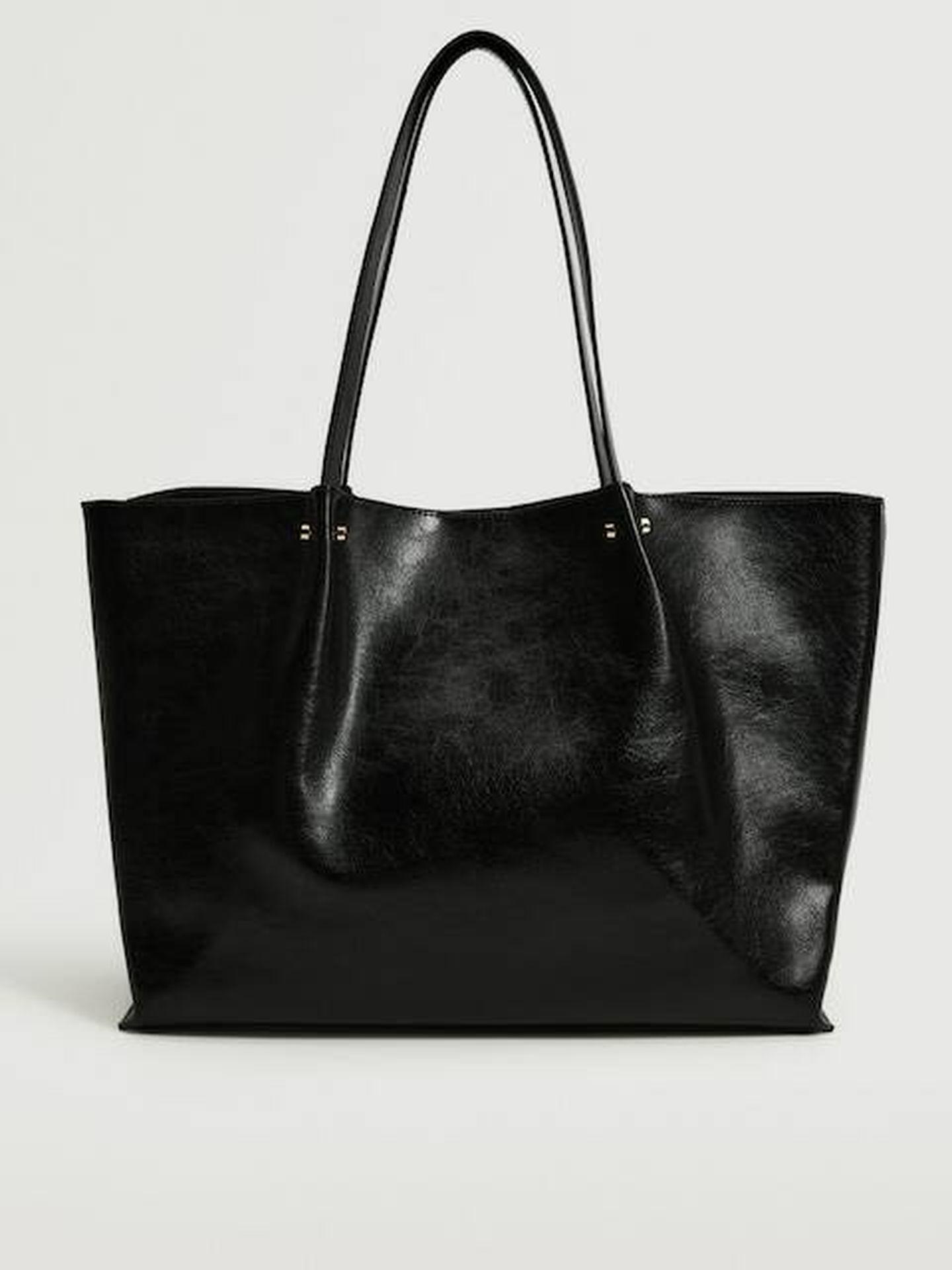 El bolso negro de Mango. (Cortesía)