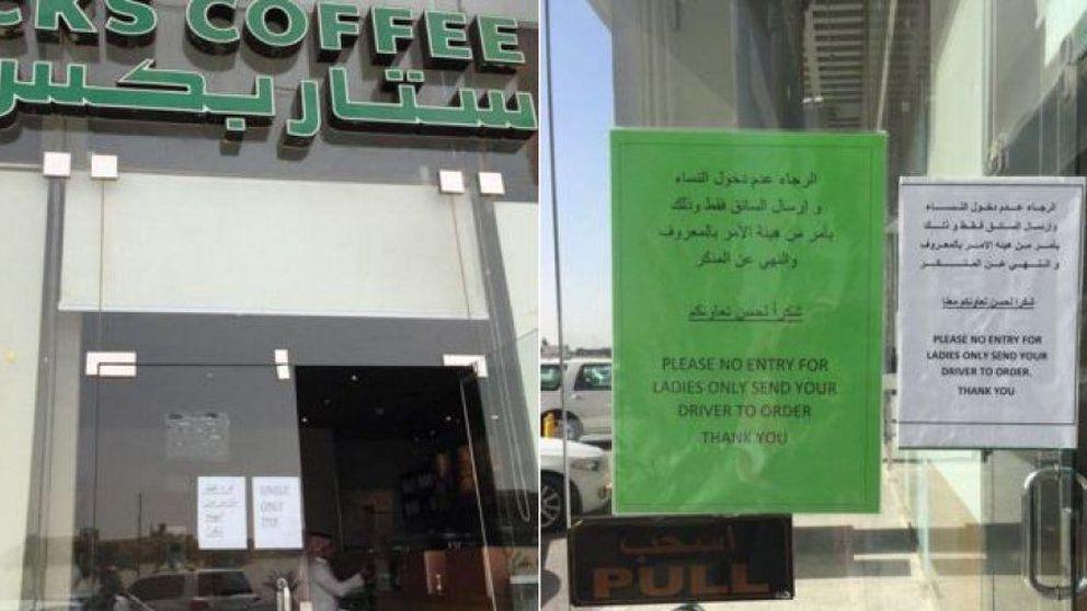 Starbucks prohíbe la entrada de mujeres en su cafetería de Riad