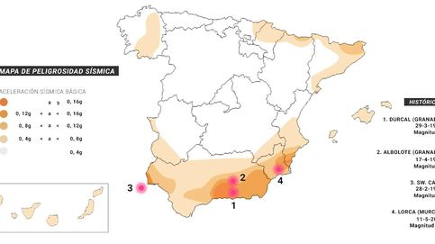 El mapa de los terremotos en España: las zonas rojas a la hora de edificar