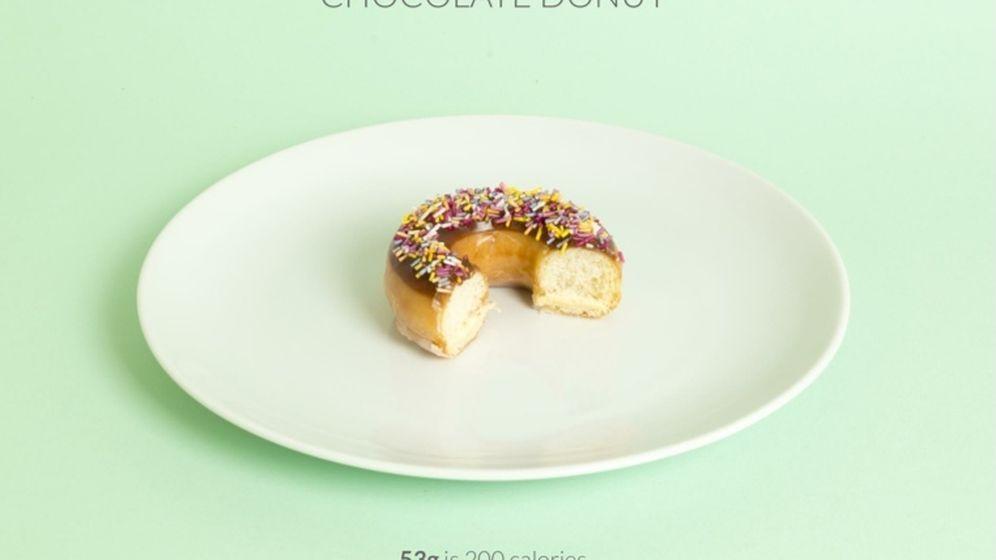 Foto: El donut es uno de los alimentos más calóricos que nos podemos echar al estómago. (Todas las fotografías pertenecen a Calorific)