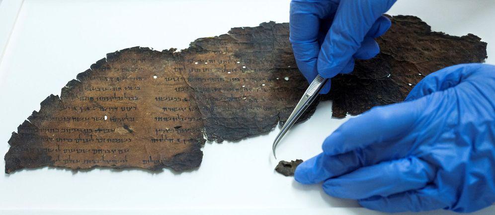 Foto: Identifican posible nuevo manuscrito del Mar Muerto con tecnología de la NASA. (EFE)