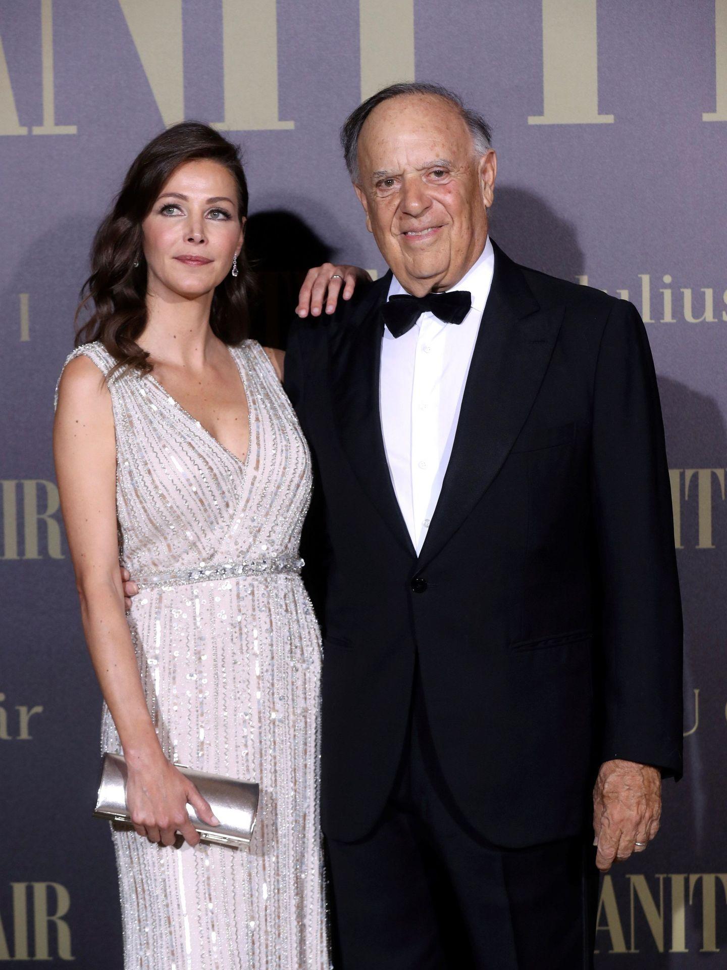 Esther Doña y Carlos Falcó, en una entrega de premios. (EFE)
