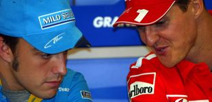 Post de Alonso frente a Schumacher: