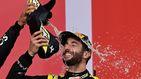 Del 'shoey' a los tatuajes del jefe, el podio de Ricciardo que saca una sonrisa a Alonso