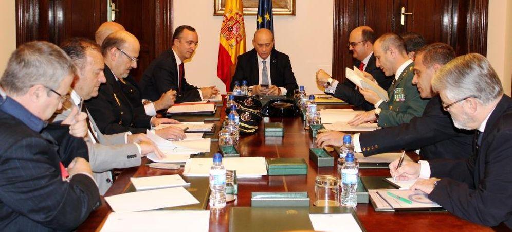 Foto: Reunión de la mesa de responsables del Ministerio del Interior que decide el nivel de alerta antiterrorista (EC)
