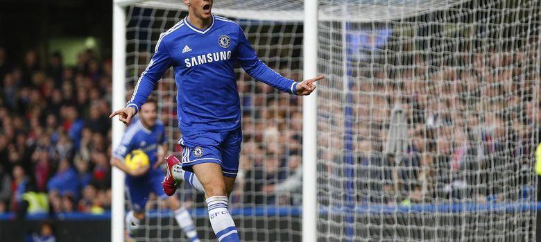 Foto: Fernando Torres celebra el primer tanto del Chelsea (Reuters).