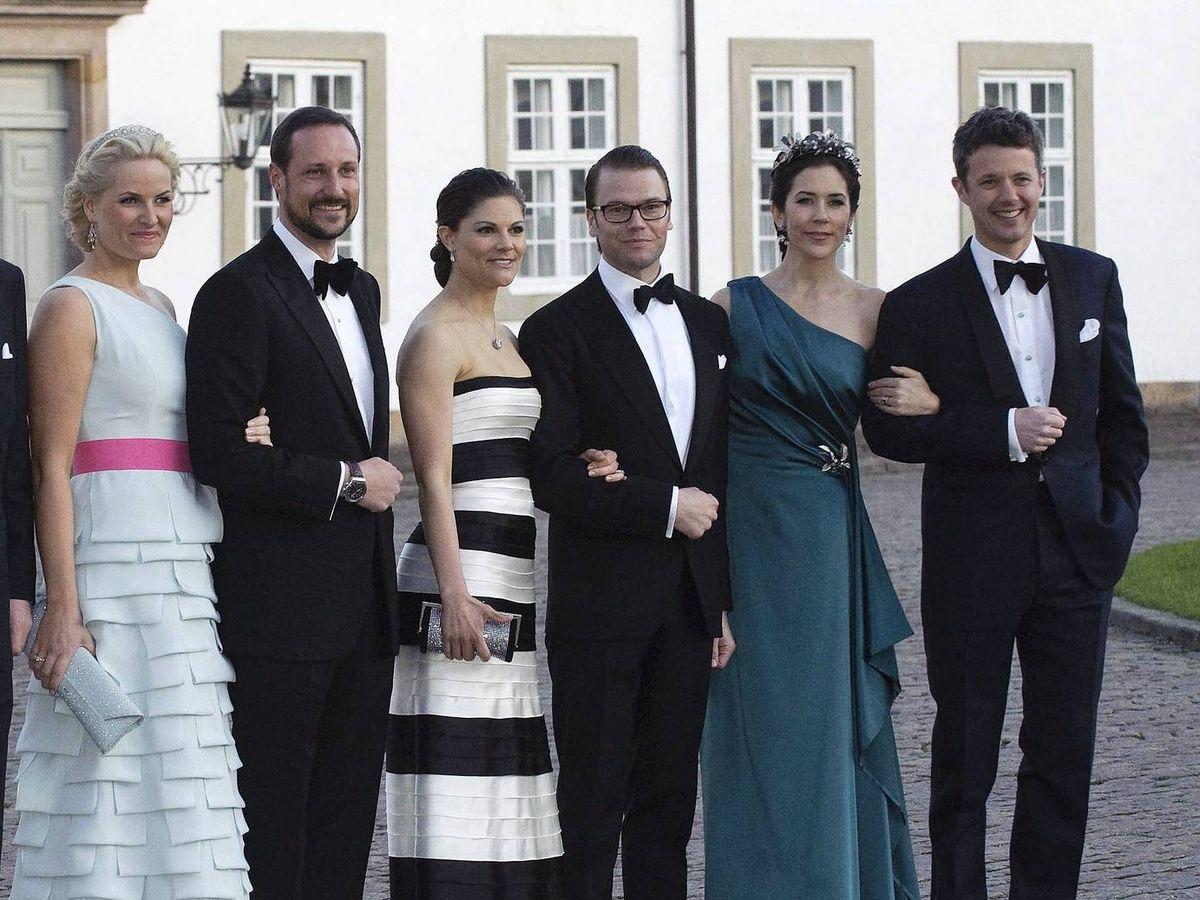 Foto: Los príncipes de Noruega, Suecia y Dinamarca, en una imagen de archivo. (EFE)
