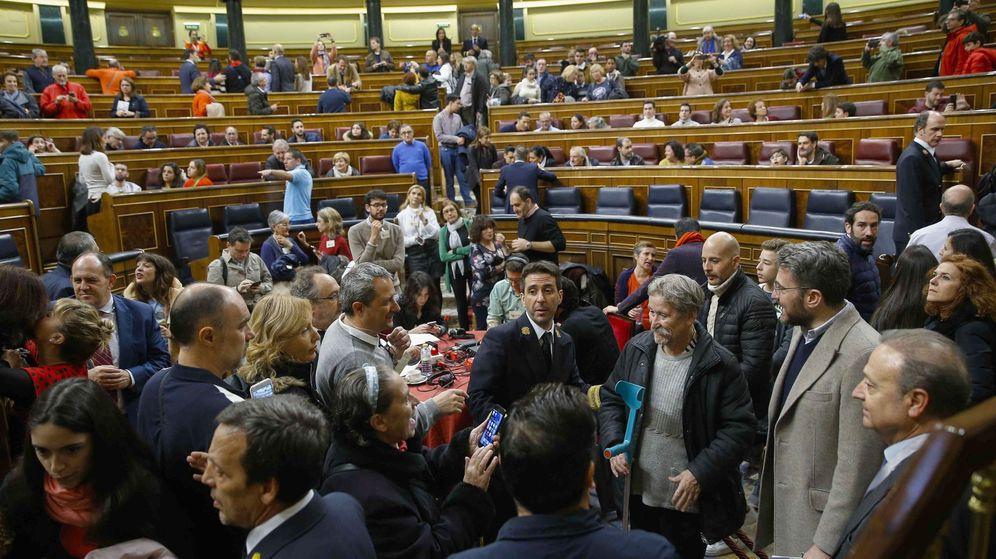 Foto: Una de las jornadas de puertas abiertas en el Congreso, en 2019. (EFE)