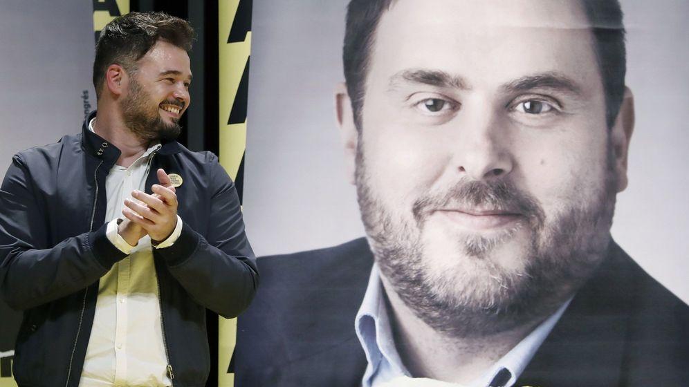 Foto: Rufián, en el inicio de campaña de ERC. (EFE)