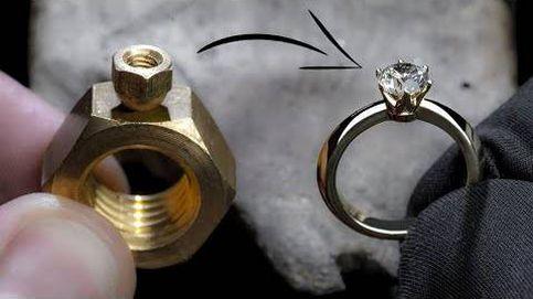 Así se transforma una simple tuerca en un anillo de diamante