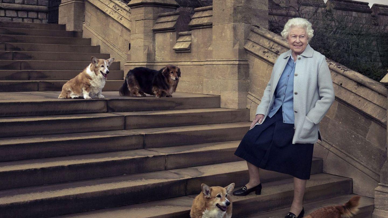 Isabel II junto a sus perros. (EFE)