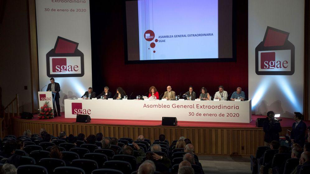 Foto: Asamblea extraordinaria de la SGAE el 30 de enero de 2020 en madrid. (EFE)