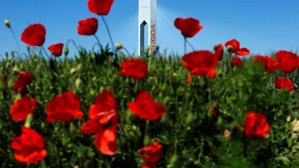 Foto: Una torre de la planta solar de Abengoa en Sanlúcar la Mayor. (Reuters)