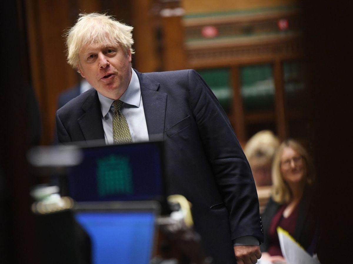 Foto: Boris Johnson en el Parlamento británico (EFE)