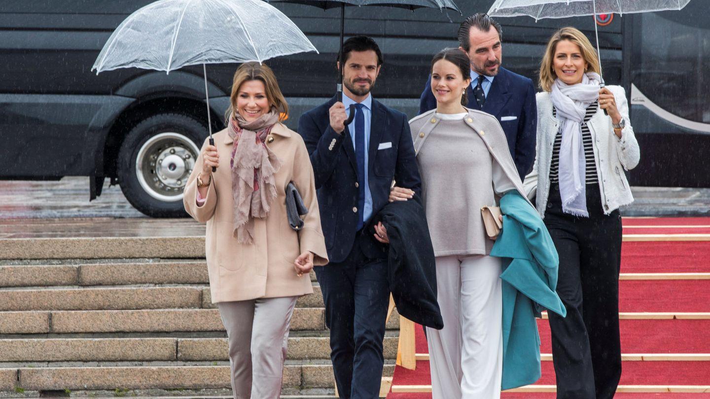 La princesa Marta Luisa, junto a Carlos Felipe, dos víctimas de los hackers. (Reuters)