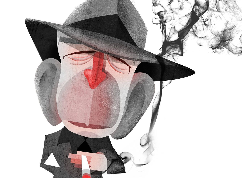 Foto: Leonard Cohen. (Ilustración: Raúl Arias)