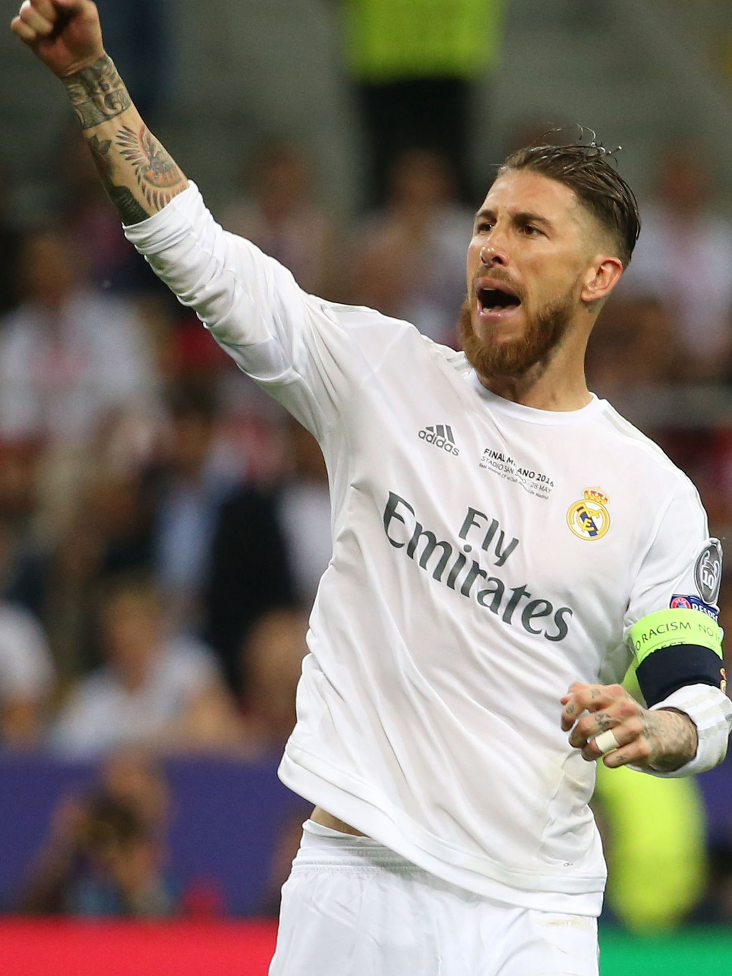 Soccer Football - Atletico Madrid v Real Madrid - UEFA Champions League Final - San Siro Stadium, Milan, Italy - 28 5 16 Real Madrid's Sergio Ramos celebrates scoring during the penalty shootout Reuters   Stefano Rellandini Livepic EDITORIAL USE ONLY.