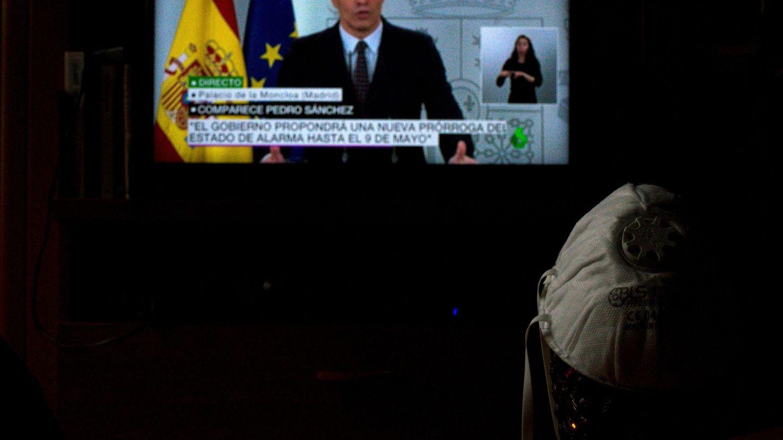 Comparecencia de Pedro Sánchez del 18 de abril. (EFE)