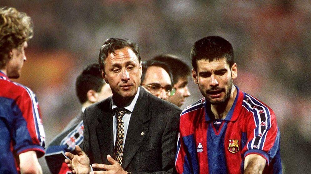 Foto: Cruyff y Guardiola, los motivos del éxito del Barça (Imago).