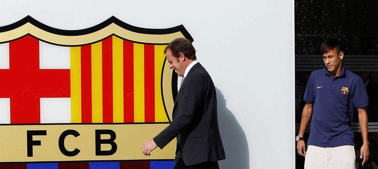 Foto: Rosell y Neymar en la presentación del futbolista brasileño.