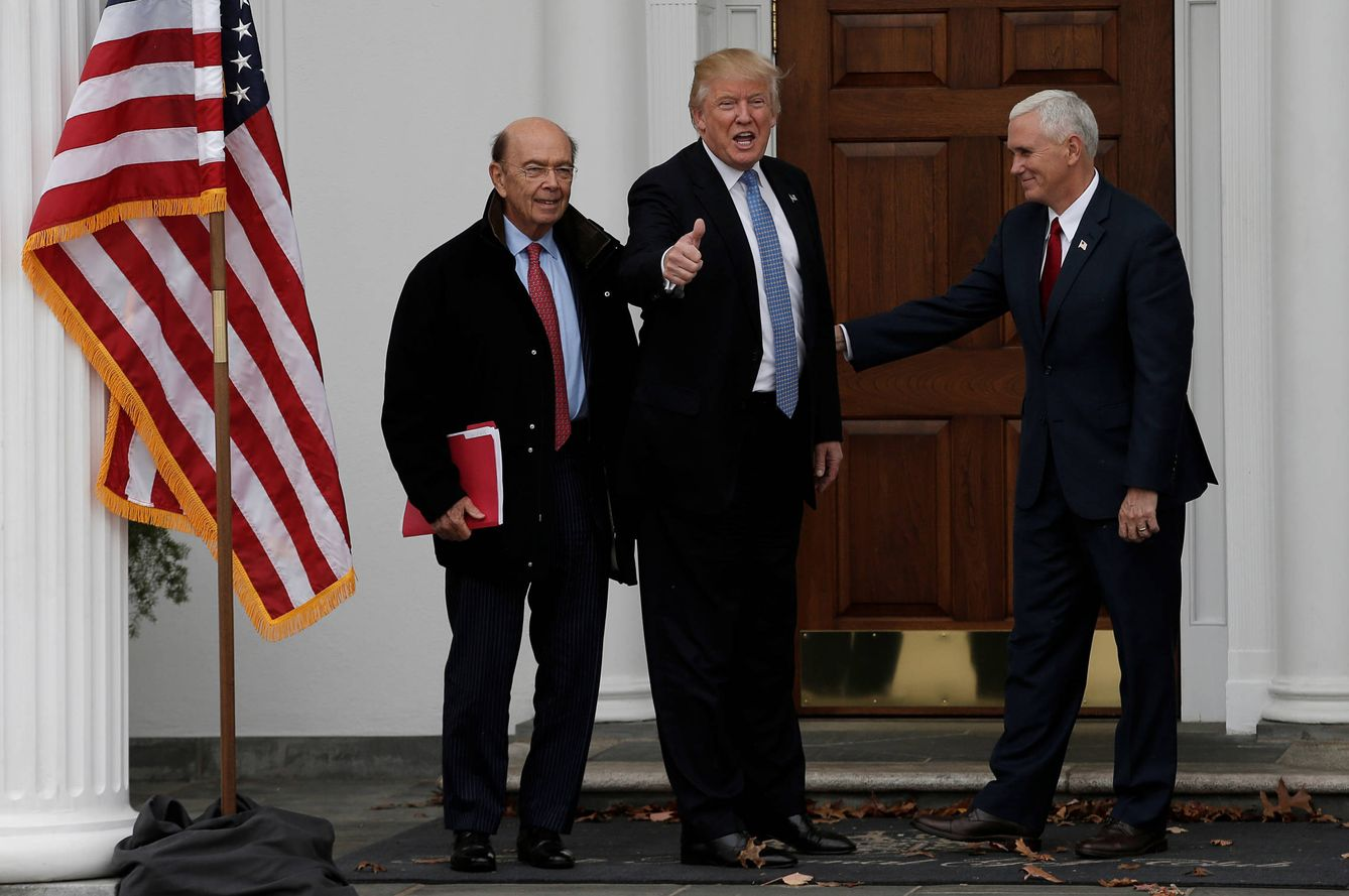 Foto: El presidente electo, Donald Trump, y su vicepresidente, Mike Pence, en el Trummp National Golf Club, en Bedminster, Nueva Jersey. (Reuters)