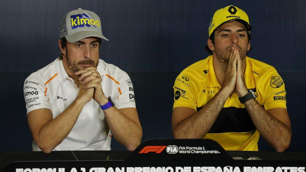 Foto: Alonso y Sainz ya rezan para que esta mejora dé un salto de calidad a sus monoplazas (REUTERS)