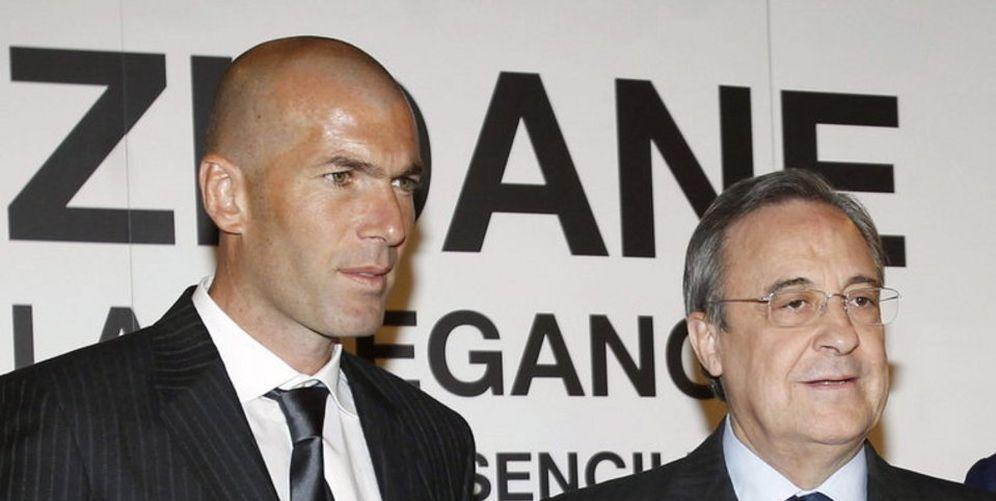Foto: Zidane y Florentino Pérez, en una imagen de archivo (EFE)