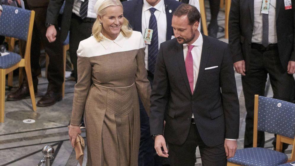Foto: Mette-Marit y Haakon de Noruega en la ceremonia. (Getty)