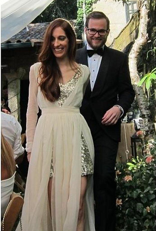 Foto: El diputado junto a su mujer el día de su boda (Instagram)