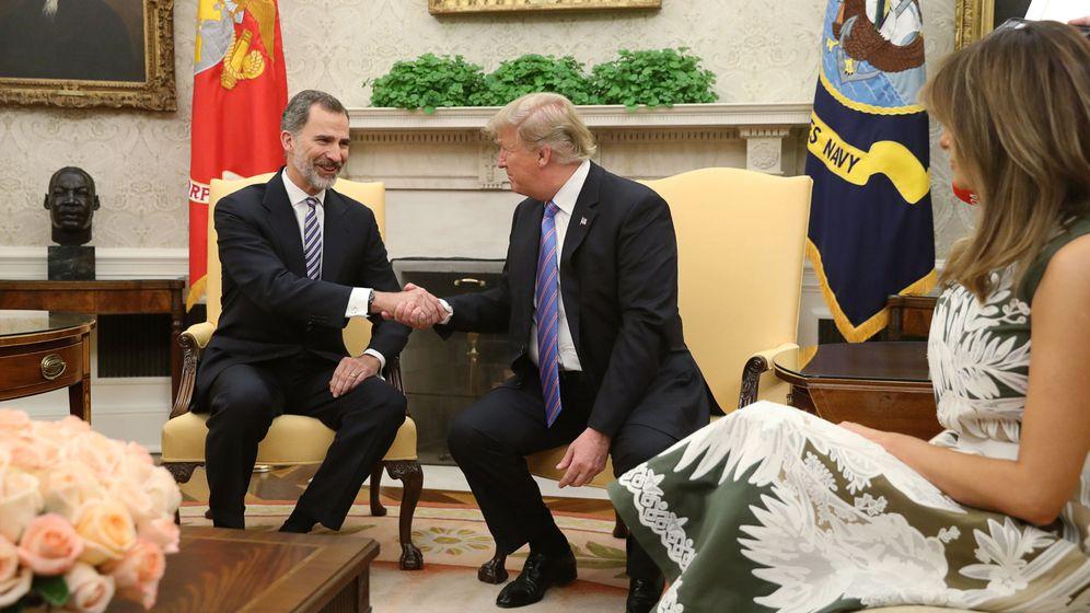 Foto: Todas las imágenes del encuentro de los Reyes con Donald Trump y Melania