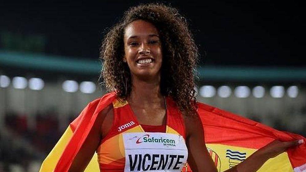 Foto: María Vicente, nada más ganar el Mundial el año pasado en Nairobi. (IAAF)
