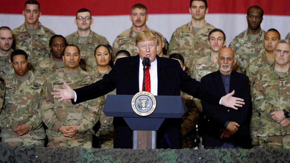 Foto: Trump en la base militar de Bagram, durante Acción de Gracias. (Reuters)