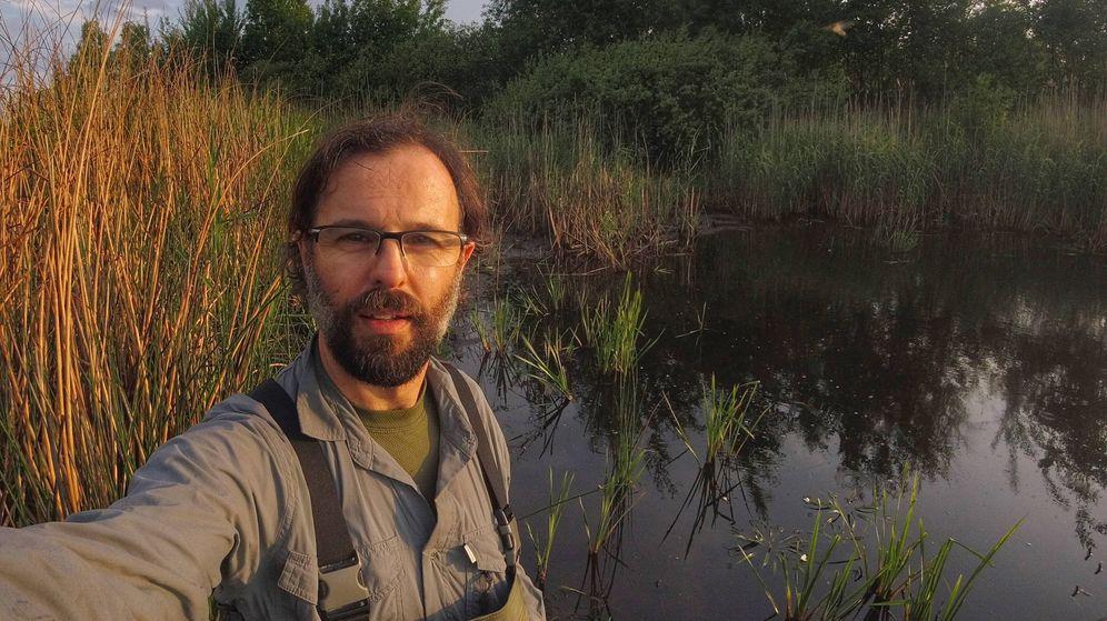 Foto: Germán Orizaola, investigador de la Universidad de Oviedo. (G.O.)