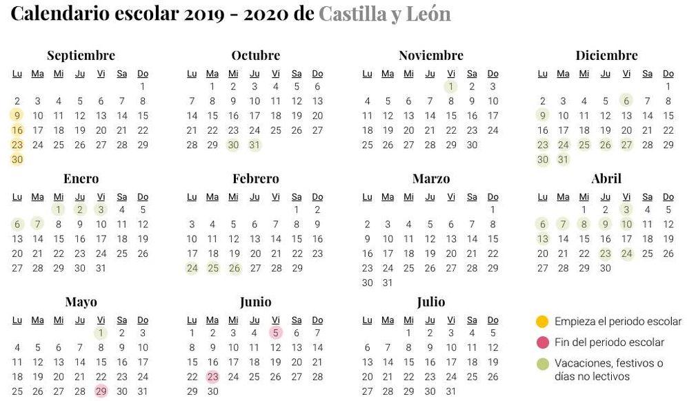Foto: Calendario escolar 2019-2020 en Castilla y León (El Confidencial)