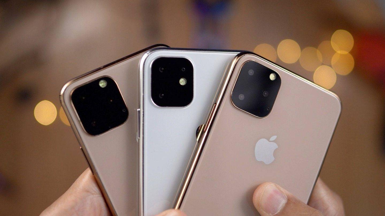 Maquetas de cómo sería el iPhone 11 con tres cámaras. (9to5Mac)