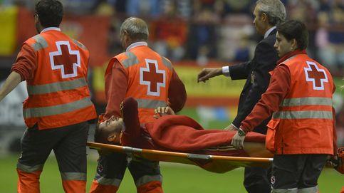 La sombra de una fractura de peroné planeó durante unos minutos sobre Álvaro Morata