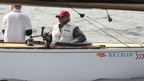 El Bribón gana en Sanxenxo: Juan Carlos, feliz  pero triste por la distancia
