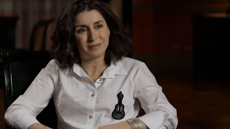 Vanessa García, hija de Manolo Escobar, durante 'Lazos de Sangre' en TVE. (Cortesía)