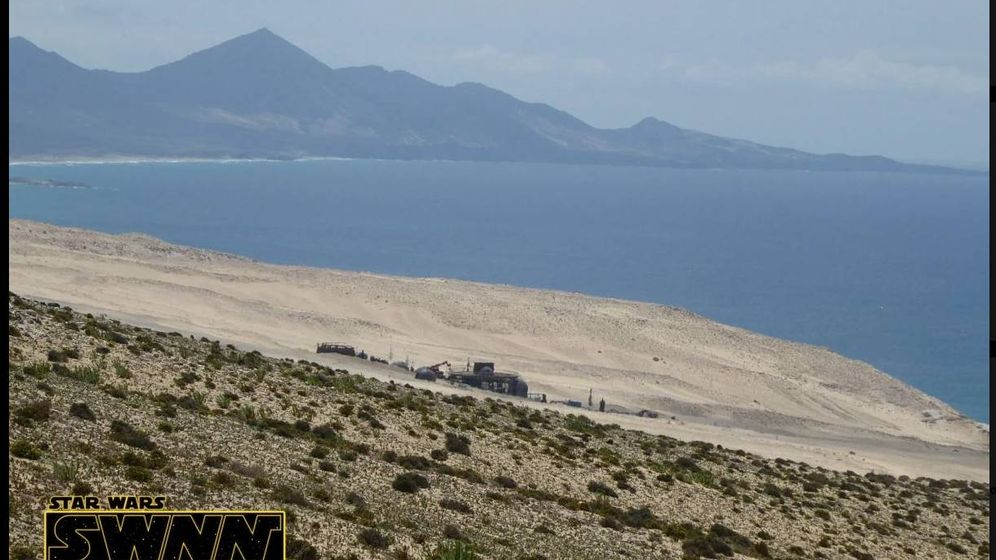 Foto: Aspecto del set de rodaje en Fuerteventura. (StarWarsNet)