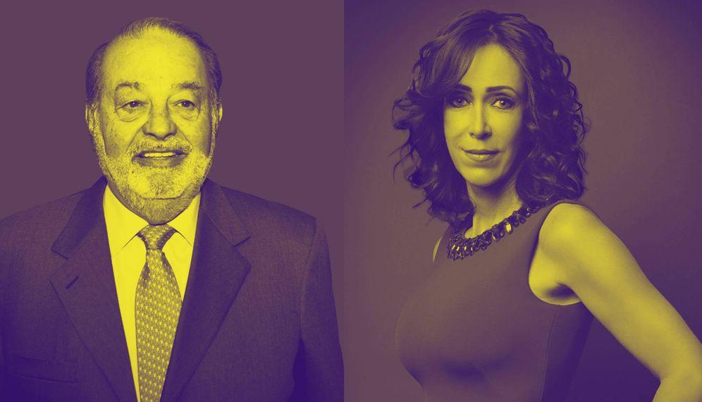 Foto: Los magnates mexicanos Carlos Slim y Mariasun Aramburuzabala