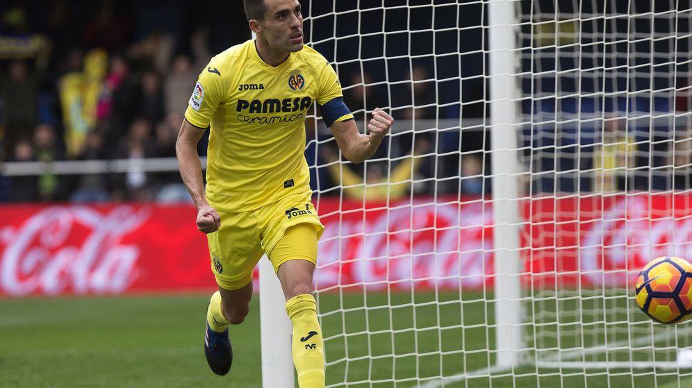 Foto: Bruno celebrando un gol en 2017 ante el Málaga. (EFE)