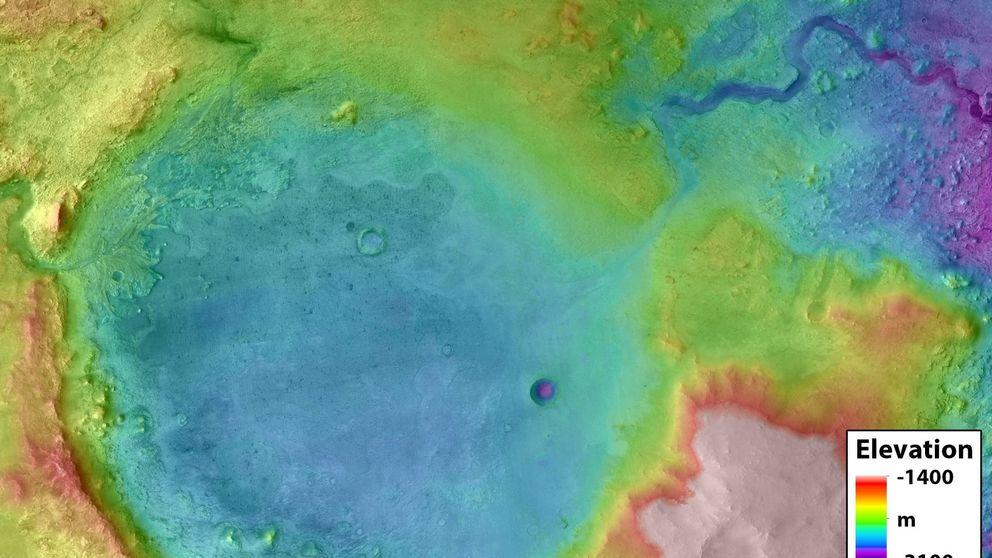 El solitario cráter de Marte en el que la NASA cree que puede encontrar vida