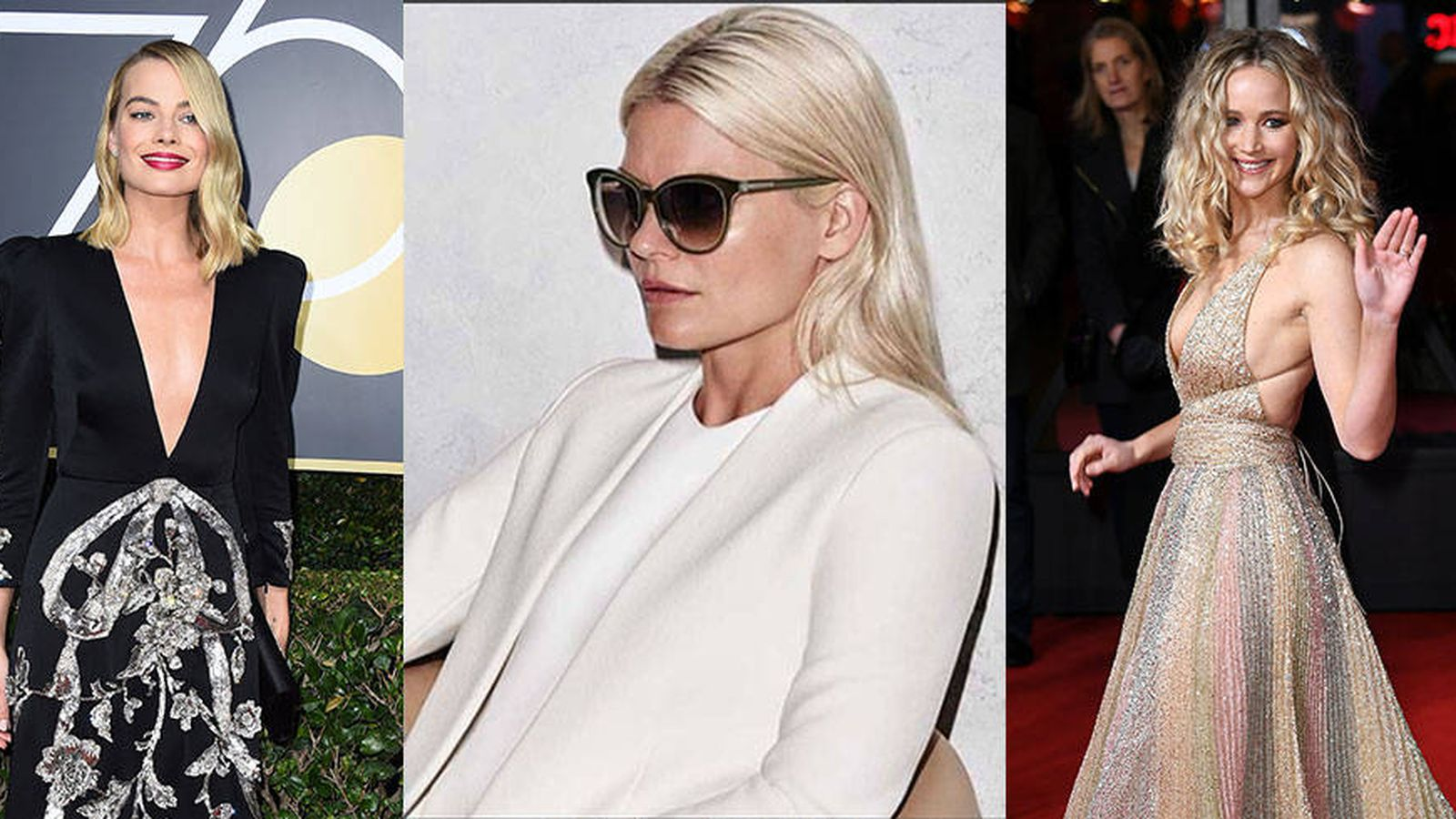 Foto: Margot Robbie, la estilista Kate Young y Jennifer Lawrence. (Fotos Instagram y Gtres)