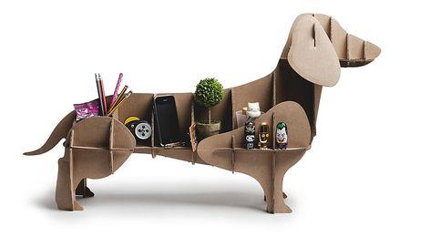 Un perro de cartón que te ayudará a poner orden