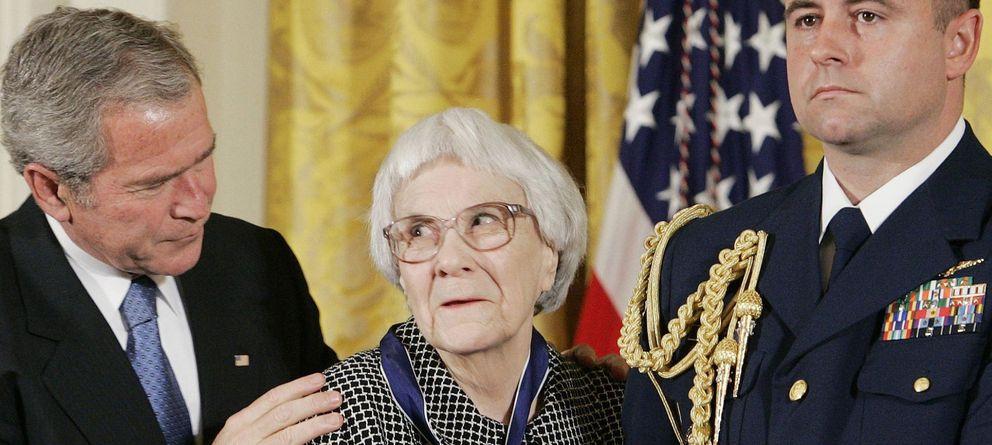 Foto: Harper Lee junto a George W. Bush en 2007