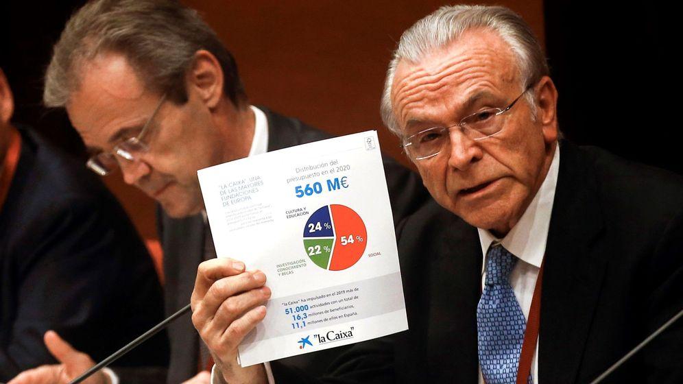 Foto: Isidre Fainé (d), presidente de la Fundación Bancaria la Caixa. (EFE)