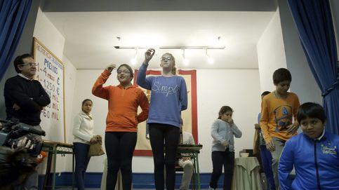 Los niños de San Ildefonso ensayan para el sorteo: ¡Que es un premio!