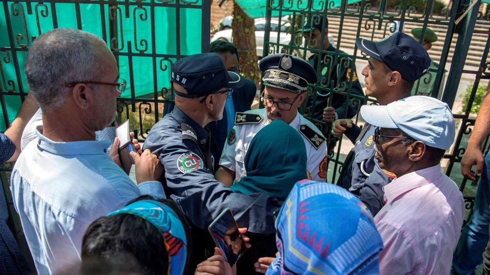 Foto: Escenario del juicio a una periodista marroquí por presuntamente abortar. (EFE)